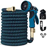 10. 100 Ft Expandable Garden Hose, Upgraded Extra Strength No-Kink, Lightweight Durable Flexible Expanding Water Hose Pipe, 9 Function Spray Nozzle, 3/4 Solid Brass Connectors, Holder, Storage Bag