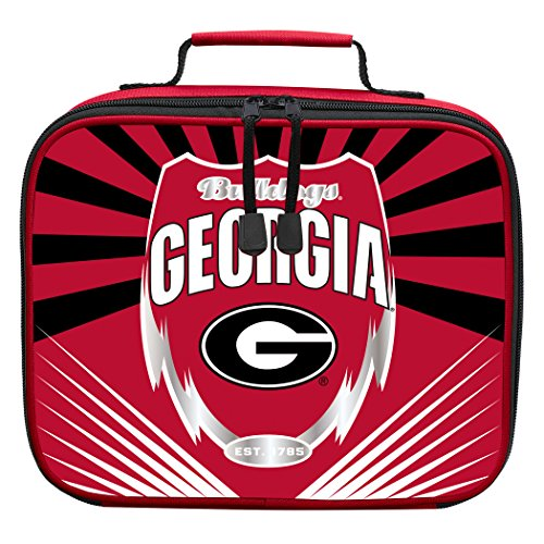 The Northwest Company Officially Licensed NCAA Georgia Bulldogs Lightning Kids Lunch Kit, Red