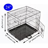 Easipet Puppy Cage for Dog, 60 x 46 x 51 cm, Black