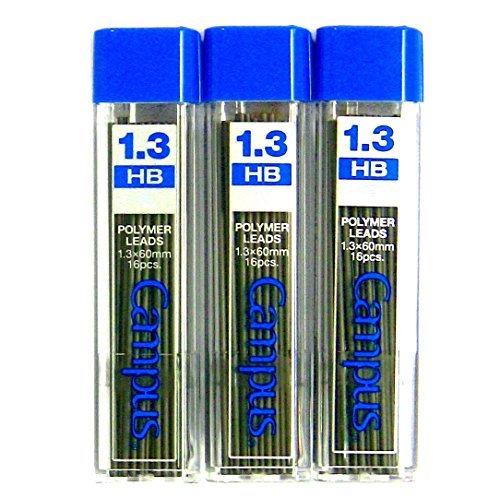 Kokuyo Campus Mechanical Pencil Lead, 1.3mm, HB (PSR-CHB13N), 16 Leads ×3 Pack/total 48 Leads (Japan Import) [Komainu-Dou Original Package]