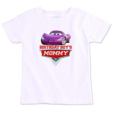 39e963f30e404 Disney Pixar Cars Birthday Boys Mommy Family Matching Birthday T ...