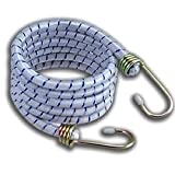 RamPro 6 Pack 72'' Long Bungee Cords Set with Galvanized Steel Hooks - Heavy-Duty Variety Pack of Thick Straps