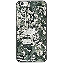 DH-hoping (TM) cell phone case for Iphone 6 plus 5.5 High Impackt Combo Soft Silicon Rubber Hybrid Hard Pc & Metal Aluminum Protective Case with Totem skull Luxurious Pattern(Black)