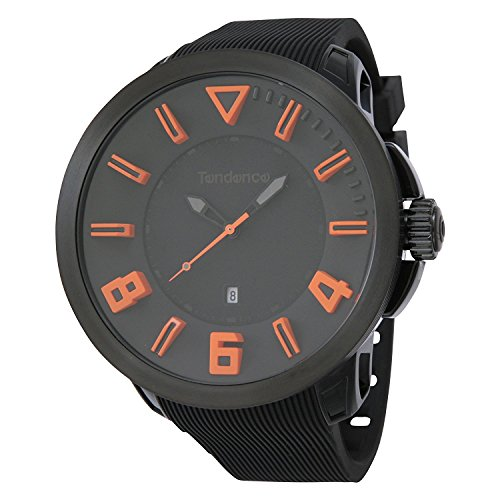 Tendence watch Gulliver sport black board ~ Orange index 10ATM 50mm TT530003 Men's parallel import goods]