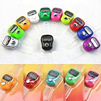 Abtrix 10 PCs Digital 5 digit Counting Machine Puja Mantra Tasbeeh Tally Finger Counter