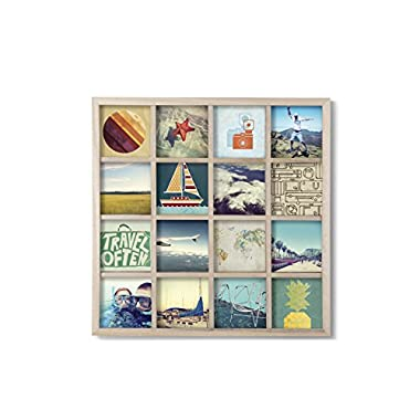 Umbra Gridart Collage Picture Frame, Natural