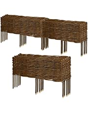 Sekey Söğüt tarhı kenarı, 10 adet, 50 x 20 cm (U x Y), hasır çiti, geçmeli çit, yuvarlak tarhlar, çimler ve çimler için esnek çerçeve