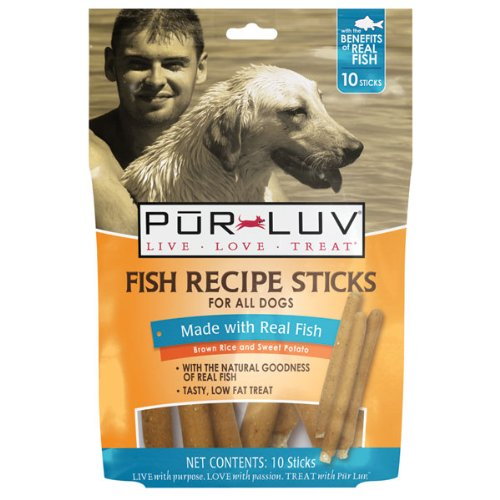 Fish Recipe Sticks Dog Treat Quantity: 10-Pack, My Pet Supplies