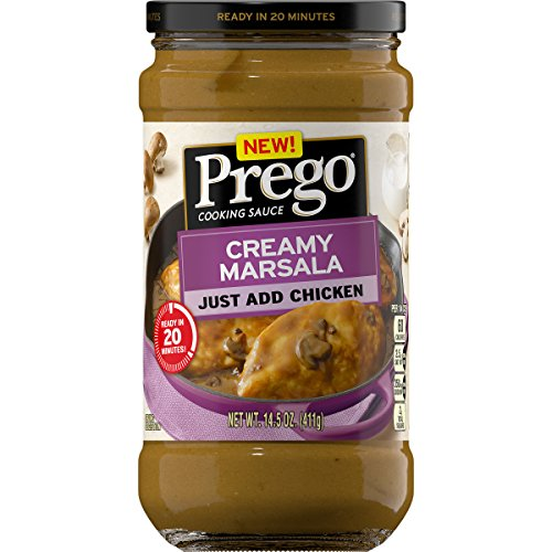 Prego Cooking Sauce Creamy Marsala, 14.5 oz. Jar (Pack of 6)