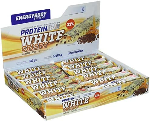 Energybody Protein Bar - White Crispy, (24 x 50 g)