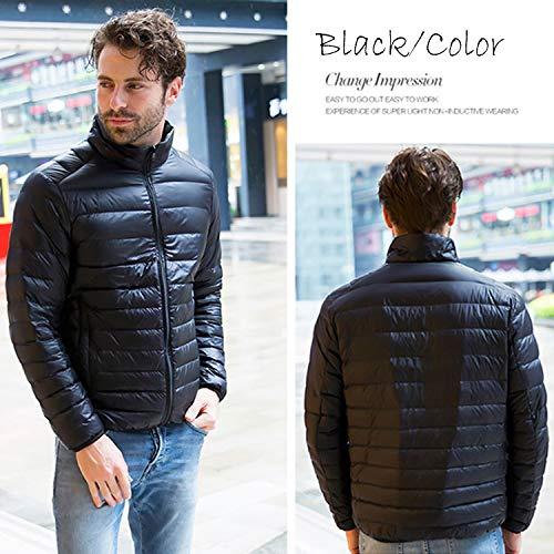 Hiver Veste noir Winter Coat Yrf Avec Jacket Rembourrée Warm Manteau Épais Fourrure Long Parka Hooded Homme Mens Capuche À Chaud qxzHRtF