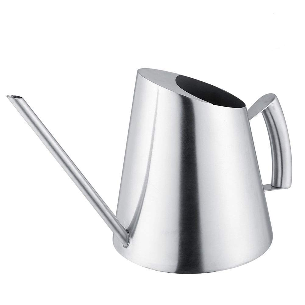 Fdit Stainless Steel Watering Can Pot Indoor House Plants Long Spout Watering Can Modern Style Watering Pot 51 oz/1.5 L