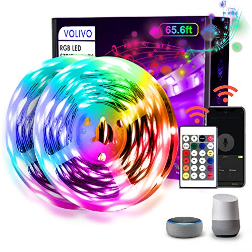 VOLIVO LED Strip Lights for Bedroom Via APP Control