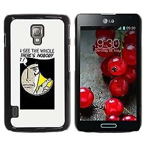 Paccase / SLIM PC / Aliminium Casa Carcasa Funda Case Cover para - Funny Hole Message - LG Optimus L7 II P710 / L7X P714