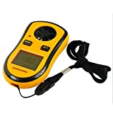 RZ Mini Digital LCD Wind Speed Scale Gauge Meter Anemometer Thermometer 0~30 m/s, Yellow