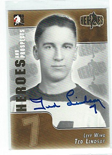 - Ted LINDSAY Signed 2005 Heroes and Prospects Card - Hockey Slabbed Autographed Cards
