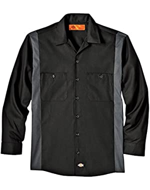 Drop Ship 4.5 oz. Industrial Long-Sleeve Color Block Shirt