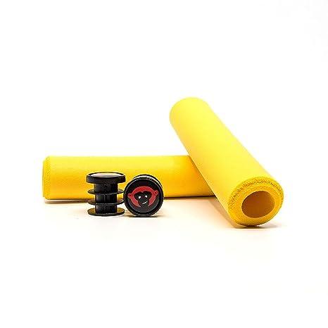 3fd3c9f2812 Redmonkey Sports Karv(xt) 6.5mm Silicone MTB Grips Yellow  Amazon.in  Sports