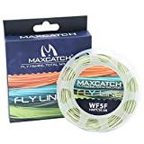 Cheap Maxcatch WF5F Fly Line with Loop Weight Forward Floating 100ft Moss Green