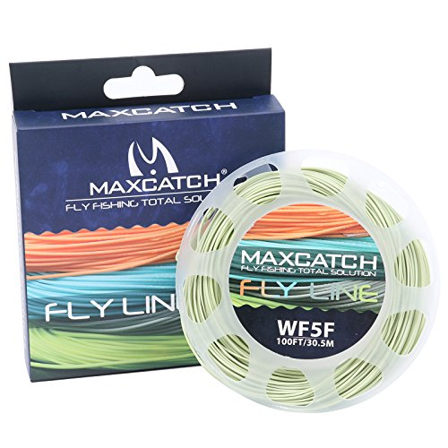 - M MAXIMUMCATCH Maxcatch WF5F Fly Line with Loop Weight Forward Floating 100ft Moss Green