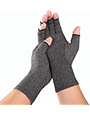 Kcnsieou Värmedesign kvinnor män artrit kompressionshandskar fingerlösa ledvärk lindring reumatoid osteoartrit hand handledsstöd terapi vantar