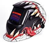Pagacat Auto Darkening Welding Helmet Battery Solar Powered Shade Welding Hood with Adjustable Shade[US Stock] (4)