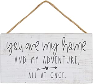 "Simply Said, INC Petite Hanging Accents 3.5""x6.5"" Wood Sign PHA1025 - You are My Home and Adventure"