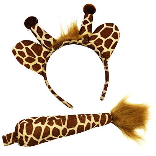 Giraffe Headband and Tail - Giraffe Costume -