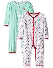 يو.اس. بولو اسن . قطعتان من رداء أطفال بأكمام طويلة أو سروال للرضع