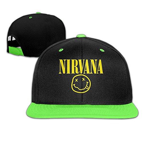 sunny-fish6hh-unisex-adjustable-nirvana-hiphop-baseball-caps-hat-for-kids-teenager-kellygreen