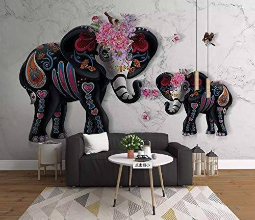 Amazon Murwall Abstract Elephant Wallpaper Sculpture Animal Enchanting Tractor Themed Bedroom Minimalist