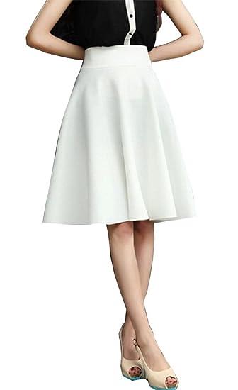 c806b7c2f9926 BiilyLi Femmes Jupe plissée Haute Taille Longue Jupe - élégant en Jupe Midi  Maxi Long Jupes