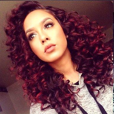 Couleur rouge cheveux frises
