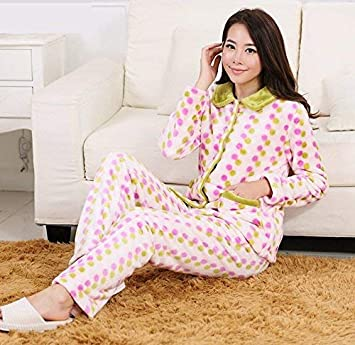 GZZ Inicio Hotel Albornoz Robe Lovers Loose Pijamas Franela Gruesa Transpirable Inicio Ropa Traje Confort Moda