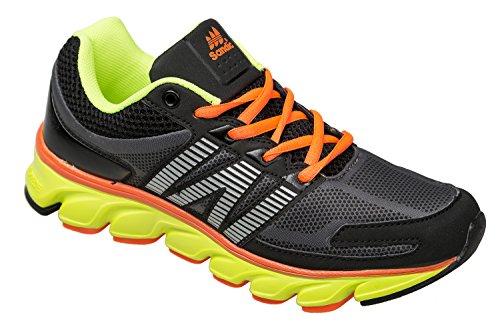 gibra - Zapatillas de running de sintético/textil para mujer Negro - negro/multicolor