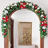 STAR-FIVE-STORE - Luxury Thick Mantel Fireplace Christmas Garland Pine Tree Indoor Christmas Decoration CMS3061