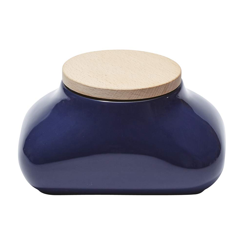 Ideaco Japan Designer Mochi Wet Wipes Tissue Dispenser with Concealed Tissue Box, Gloss Navy Blue