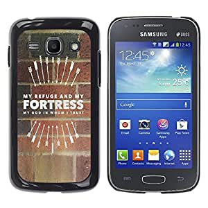 Paccase / SLIM PC / Aliminium Casa Carcasa Funda Case Cover para - BIBLE My Refuge And My Fortress - Samsung Galaxy Ace 3 GT-S7270 GT-S7275 GT-S7272