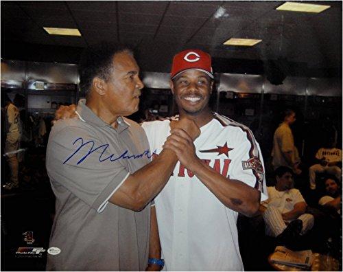 Muhammad Ali Signed Auto 16x20 Photo With Ken Griffey Jr Online Authentics COA