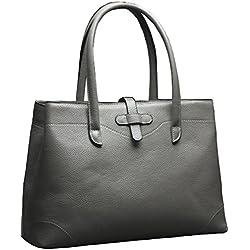 Covelin Women's Handbag Genuine Leather Tote Bags Soft Hot Grey