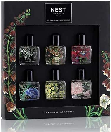 Nest Fragrances Eau de Parfum Dabber Discovery Set! 6 Luxurious Parfum For Women! Midnight Fleur, Citrine, Dahlia & Vines, Wisteria Blue, Cocoa Woods, And Black Tulip! Flower Perfume Collection!