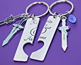 Sword Art Online Jewelry Set - Kirito and Asuna Cosplay Couples Keychain Set
