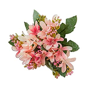 Cratone Artificial Flower Silk Bouquet Fake Daffodil Real Touch Flowers for Wedding Room Party Hotel 1Piece 106