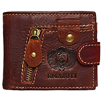 Rmazoti Wallet for Men - Leather, Brown