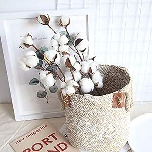 Cotton Flowers with Stem Farmhouse Cotton Ball Flower Decorative Artificial Flower Filler Floral Decor for Furniture Wedding Decoration 2Pcs 21 inch 29