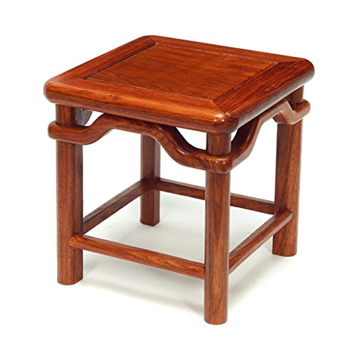 - ZHANGLIXIANG Stool Small Stool Stool Stool Stool Ming Style Antique Stool Solid Wood Stool Creative to Wear Shoes Stool (30 30 31cm) stools