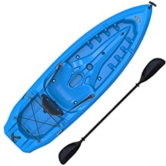 The 8 ft. Lifetime Lotus kayak is the perfect adult length, providing convenient transportation and storage options. Its compact design easily fits inside the average apartment or home closet, and the flat back end allows the kayak to stand u...