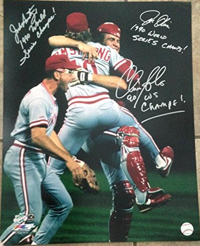 er Jack Armstrong Autographed Reds 1990 World Series 16 x 20 Photo ()