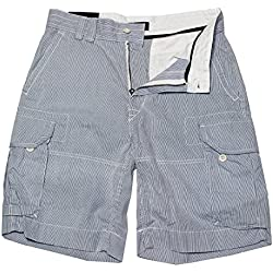 Polo Ralph Lauren Men's Classic Seersucker Cargo Shorts Blue (34W)