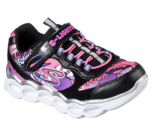 Lumi One Light - Skechers S Lights Lumi Luxe Girls Light up Sneakers Black/Multi 1